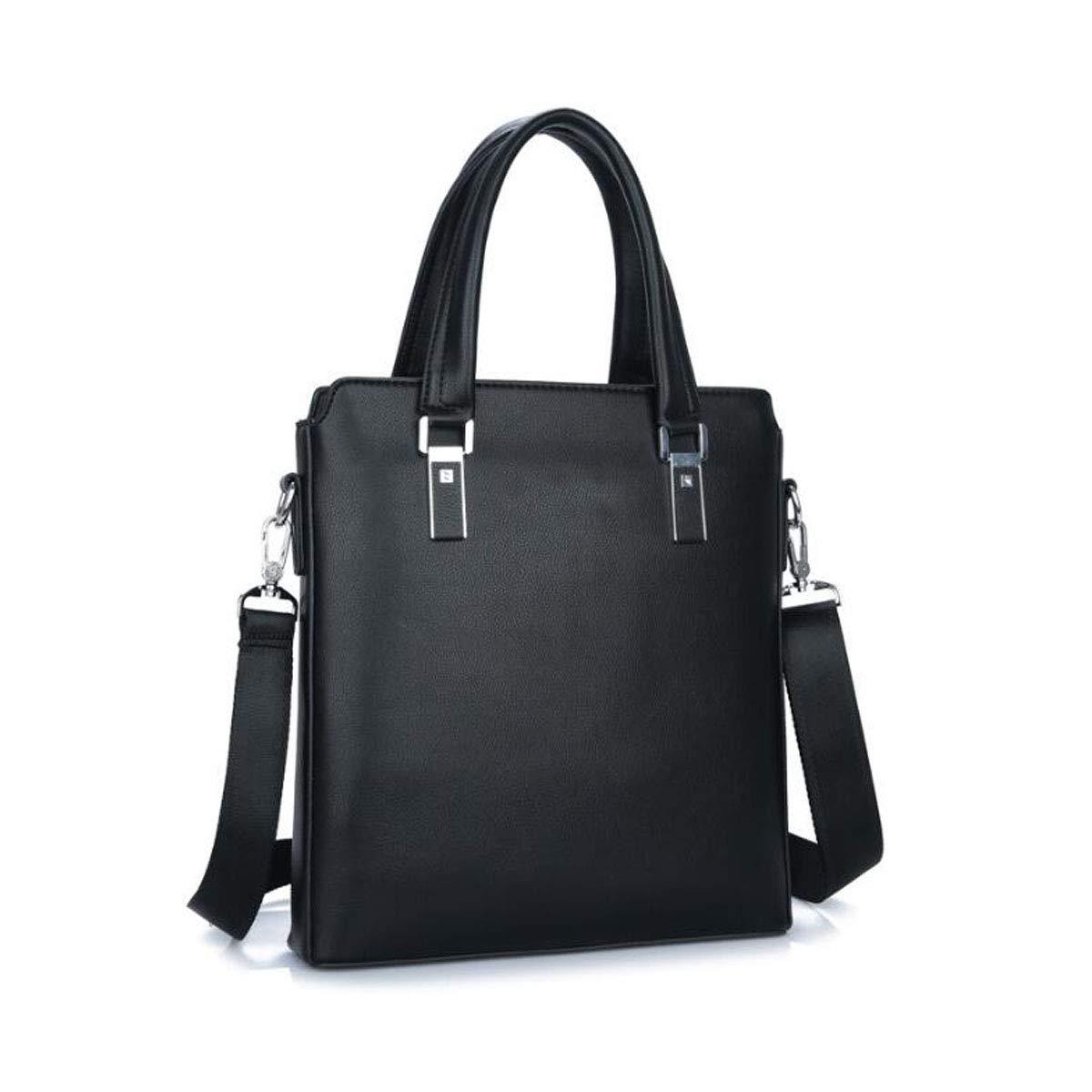 Mens PU Leather Color : Black Aishanghuayi Briefcase Travel Size: 29832cm Durable Suitable for Work Business Shoulder-Slung Computer Bag