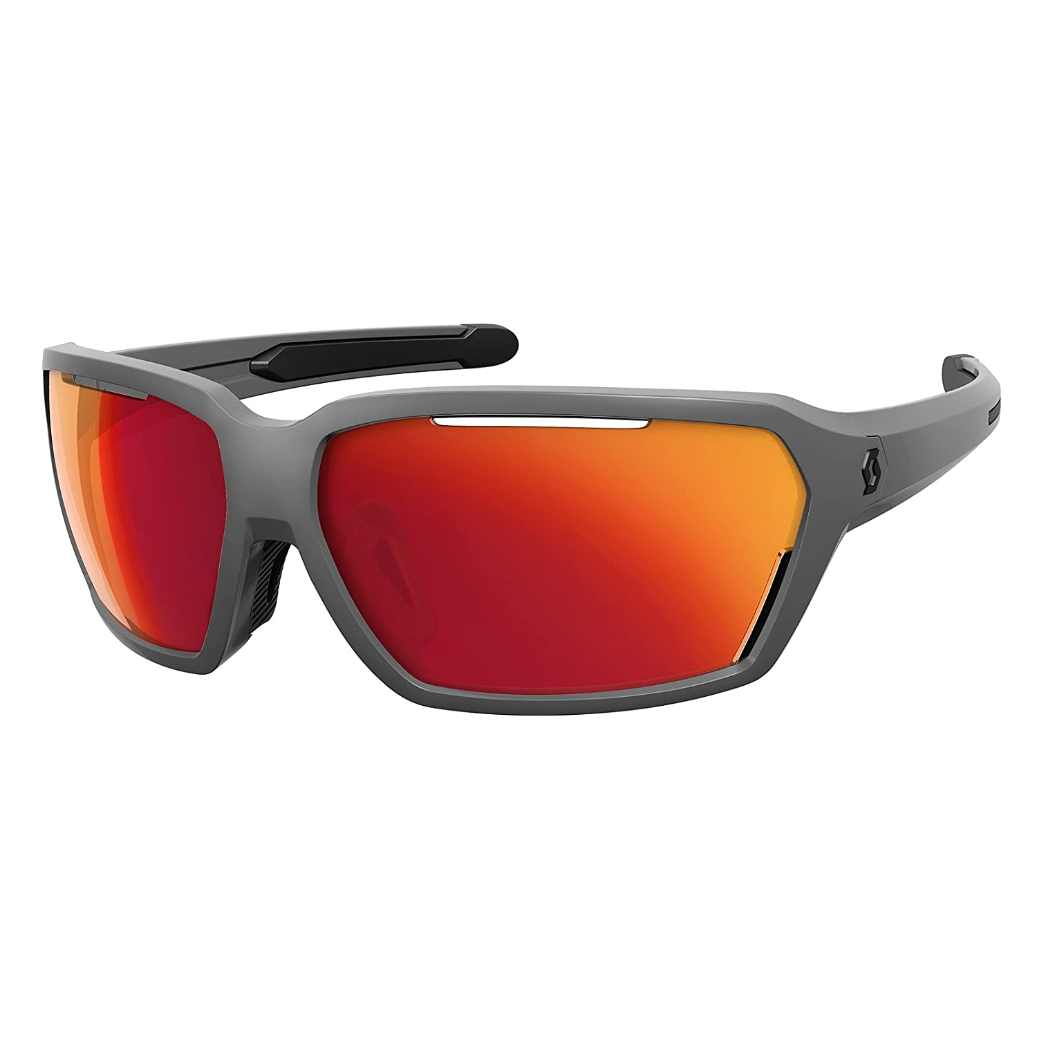 Scott Vector Fahrrad Sport Brille grau/rot chrome