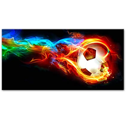 RTCKF Cartel de Pared de Arco Iris Moderno de fútbol de ...