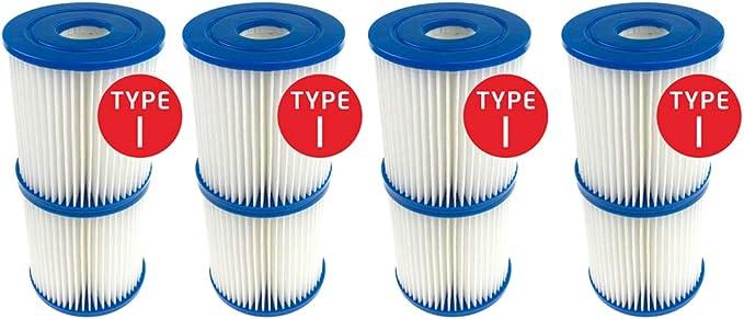 Fenengcheng - Filtro para piscina tipo I, para Bestway, cartucho de filtración, Jacuzzi o Spa, sustituye a los cartuchos filtrantes