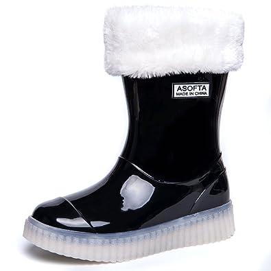 Kids Boys Girls Winter Snow Rain Light Up Boots Water proof LED Energy Shoes   B075HYZB2N