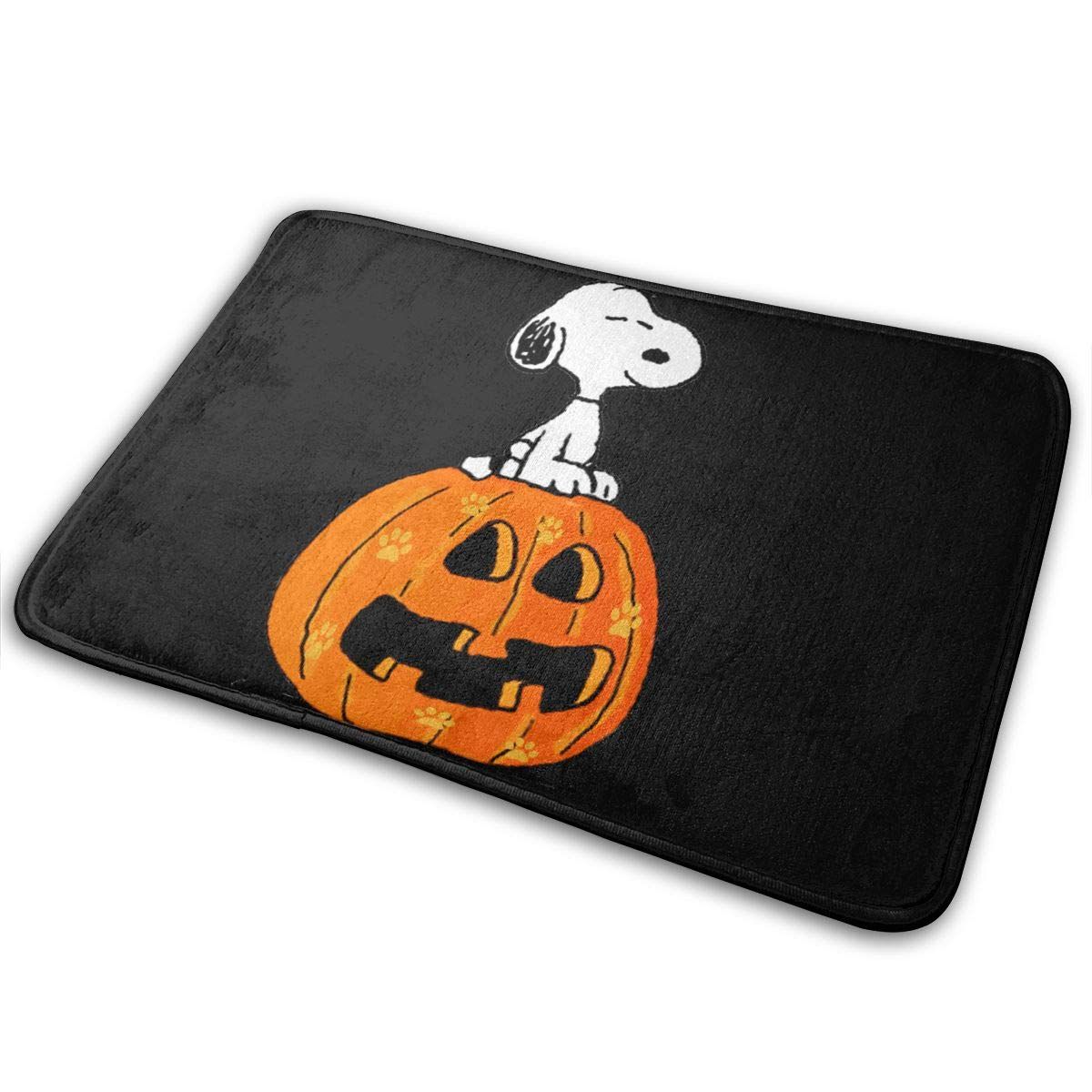 DIOWIYSls5uU Halloween Cute Snoopy Sitting On PumpkinFashion Non-Slip Floor Mat for All OccasionsWhite One Size