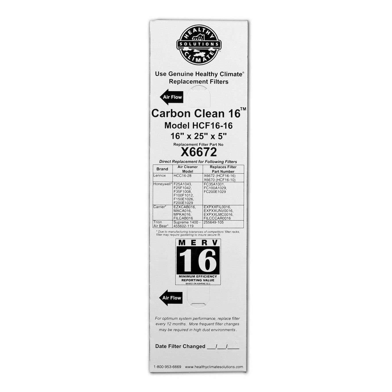 lennox x6672. lennox carbon coated x6672 healthy climate merv 16 filter (2 pack): amazon.ca: home \u0026 kitchen n