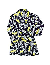 BATMAN Boy's Size 8 Plush Bathrobe and Fleece Pajama Set