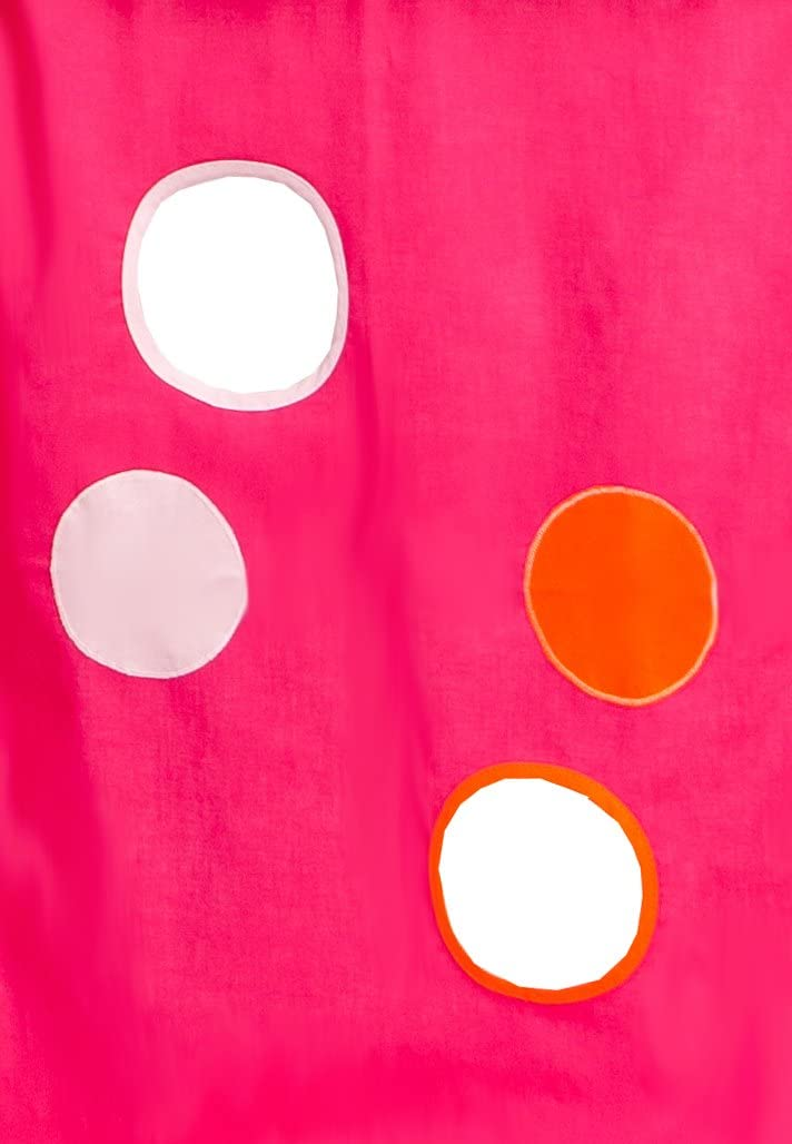 200 x 90 x 72 cm Hoppekids Gardinenset inkl Gardinen Drahtseil f/ür Halbhochbett rosa Spielbett Ma/ße 90 x 200 cm pink Textil