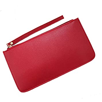 Willsego Cartera de Color sólido Material de PU Material Impermeable y Duradera La Sra. Bag