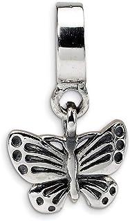 Lex & Lu in argento Sterling riflessioni farfalla Ciondola LAL6590