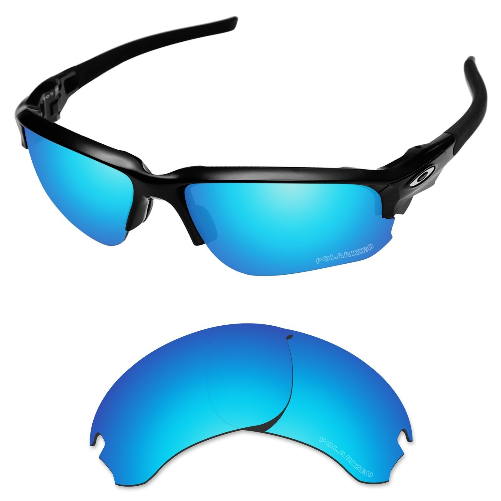Tintart Performance Replacement Lenses for Oakley Si Speed Jacket Sunglass Polarized Etched-Sky Blue