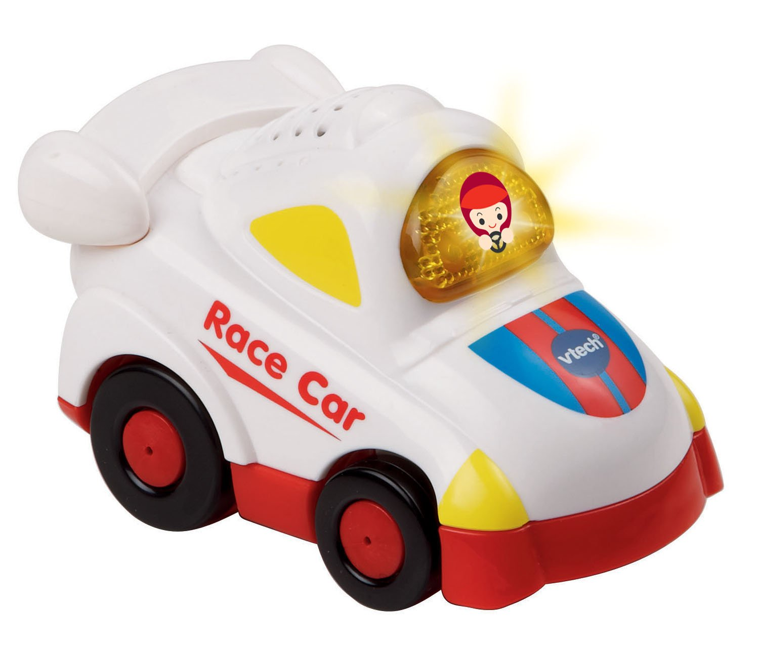 B00BNWI4WA VTech Go! Go! Smart Wheels White Race Car 61sIVA2lS2L