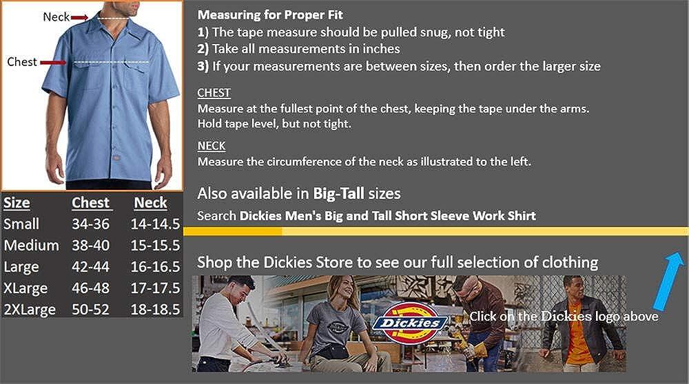 Dickies Men's Short Sleeve Work Shirt: Clothing