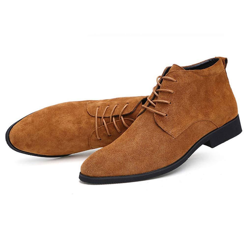 HhGold Männer Männer Männer Handgefertigte Qualität Mode Wildleder Stiefeletten Männer Winter Schnee Warme Formelle Schnürung Männer Schuhe (Farbe   Braun, Größe   8=42 EU) 9e78f0