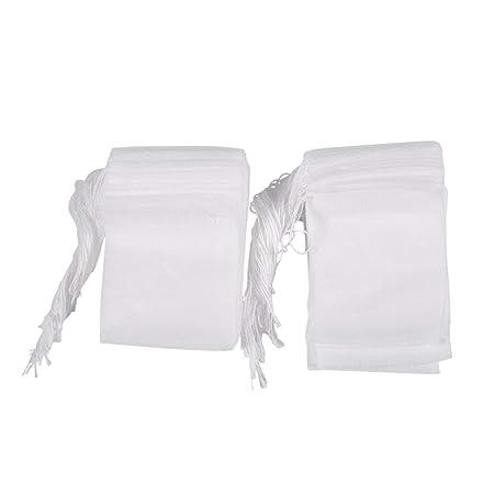 Bolsa de te de filtro de papel - TOOGOO(R)100 piezas de bolsita de te de filtro de papel de filtro de papel de vacio sello de calor