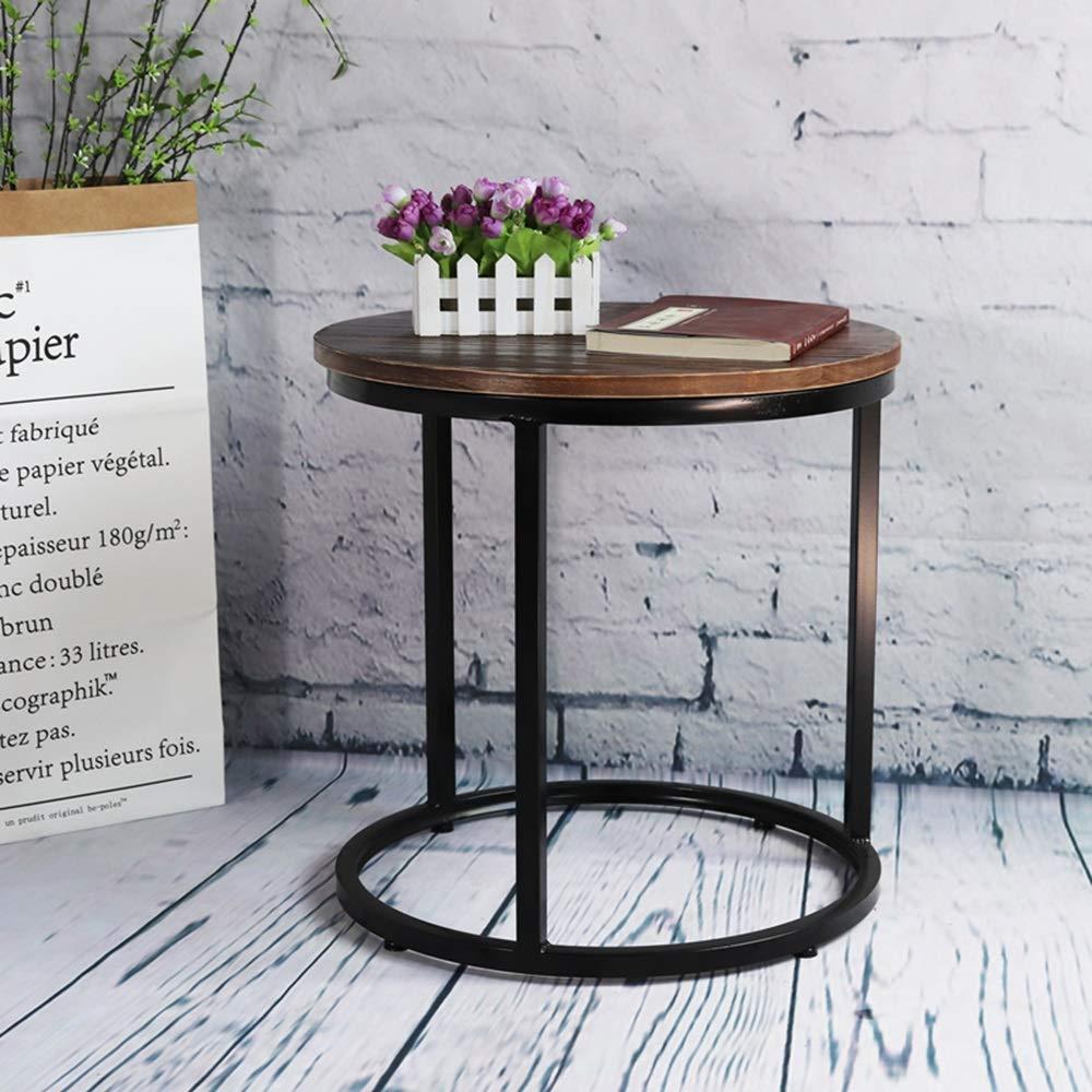 FEIFEI リビングルームサイドテーブル、大理石の卓上テーブル、ソリッドウッド卓上テーブル、コーヒーテーブル、エンドテーブル、ベッドサイドテーブル45 * 50CM (色 : 黒, サイズ さいず : Solid wood tabletop) B07J4PWF2K Solid wood tabletop|黒 黒 Solid wood tabletop