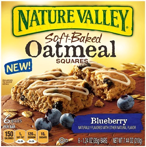- Nature Valley Blueberry Soft-Baked Oatmeal Squares, 6 Bars, Net Wt. 7.44 Ounce by Nature Valley