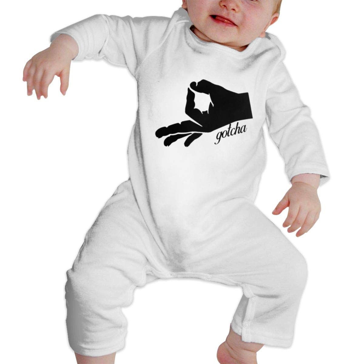 Gotcha Hand Newborn Baby Boy Girl Romper Jumpsuit Long Sleeve Bodysuit Overalls Outfits Clothes
