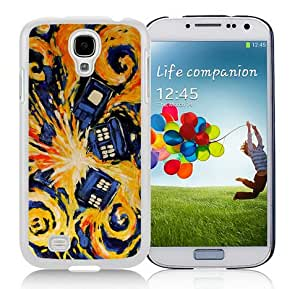 Case For Galaxy S4,Doctor Who TARDIS Dark Night White Samsung Galaxy S4 i9500 Case