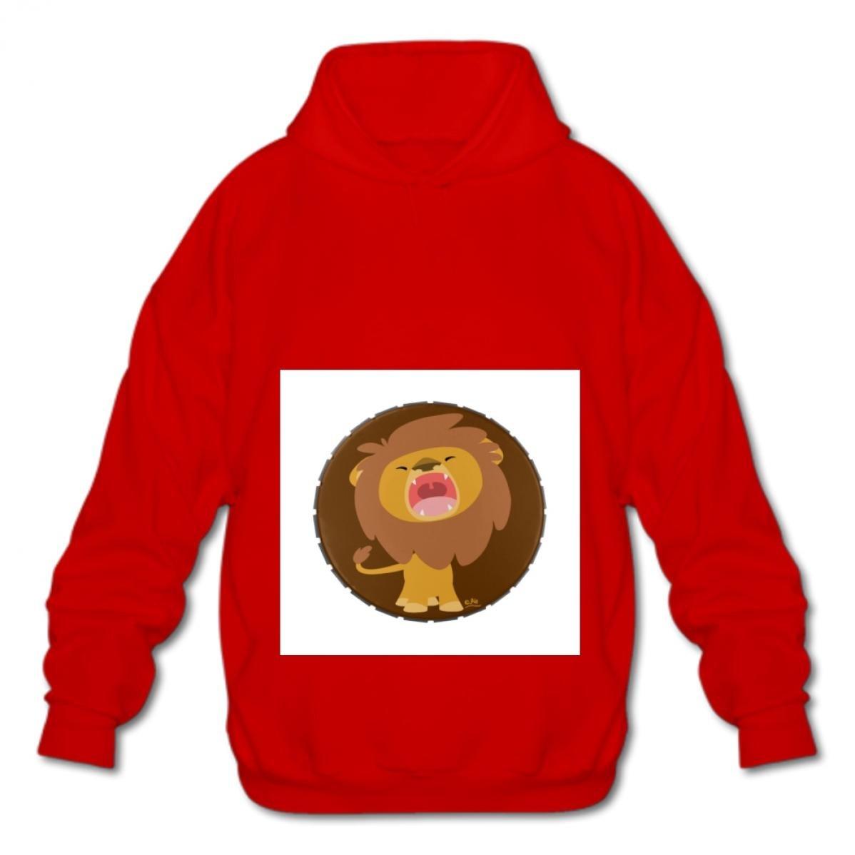 Euochengqus Sweatshirt Mens Fashion Fashion Hoodies-03 Cartoon Lion Uxni Cotton Pullover Hooded