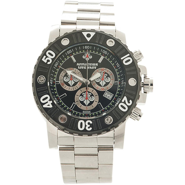Affliction Herren Chronograph Uhr AF3612S-SLBK