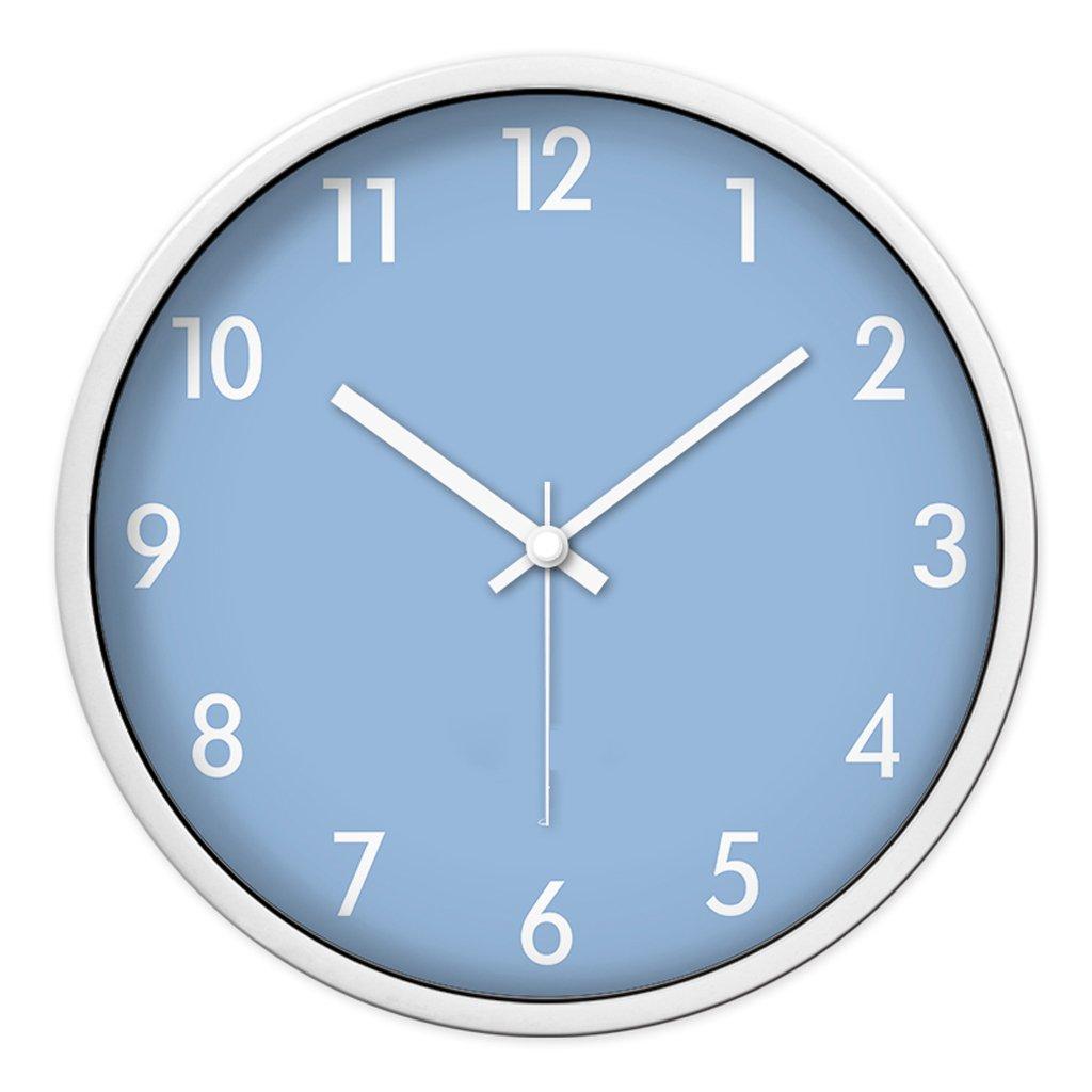 FANJIANI Stille Wanduhr Persönlichkeit Cartoon Nette Kinderzimmer Wohnzimmer Schlafzimmer Quarzuhr Uhr (Farbe : Weiß, größe : 12 Zoll)