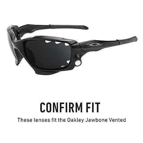 3ab71c51e0 Amazon.com  Revant Vented Polarized Replacement Lenses for Oakley Jawbone  Black Chrome MirrorShield  Sports   Outdoors