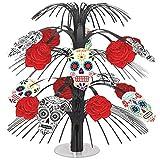 Amscan Day of the Dead Halloween Party Sugar Skull Cascade Table Centerpiece Decoration, Multicolor, 14''