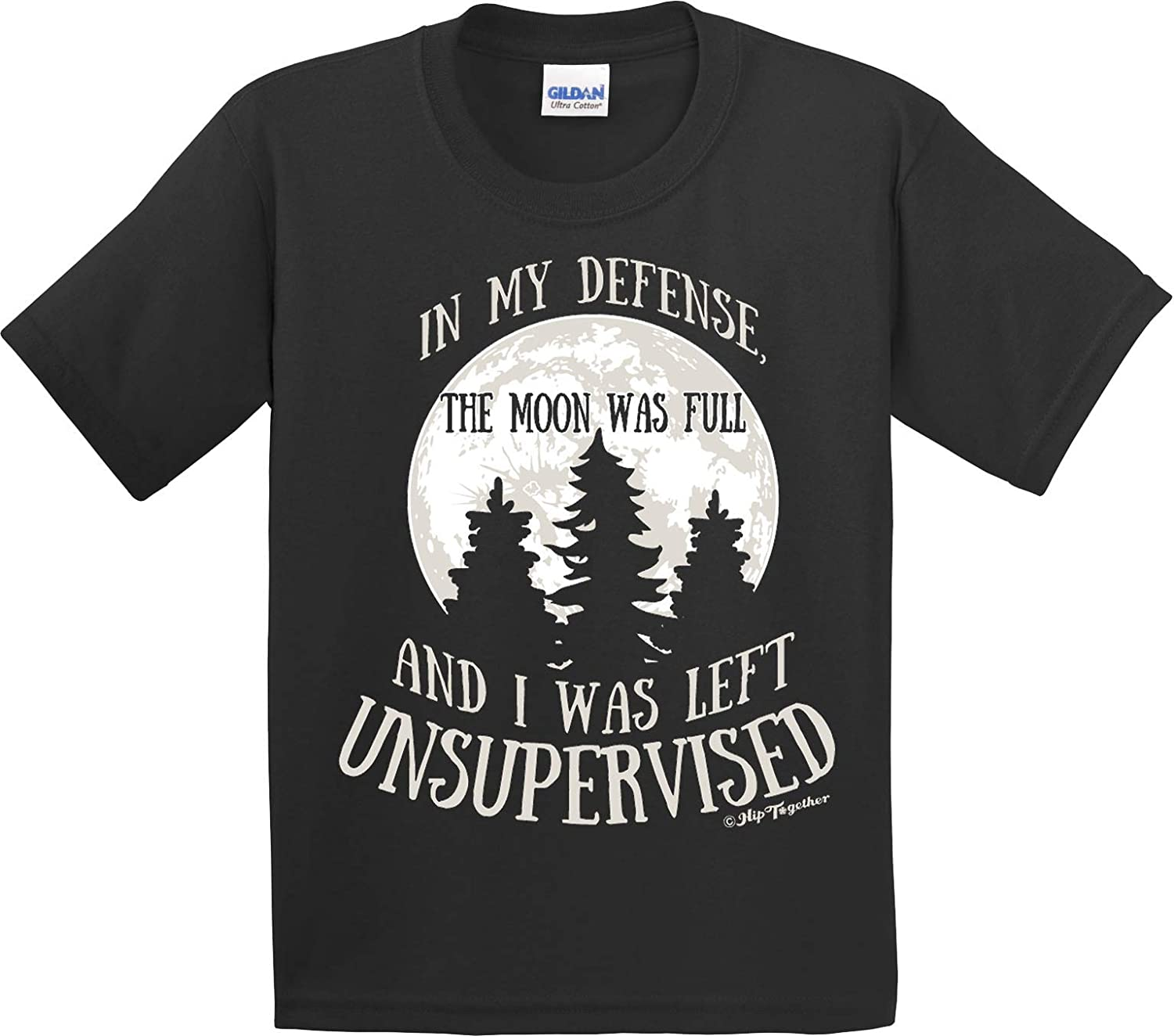 in My Defense The Moon was Full and I was Left Unsupervised Toddler Tee Black YL