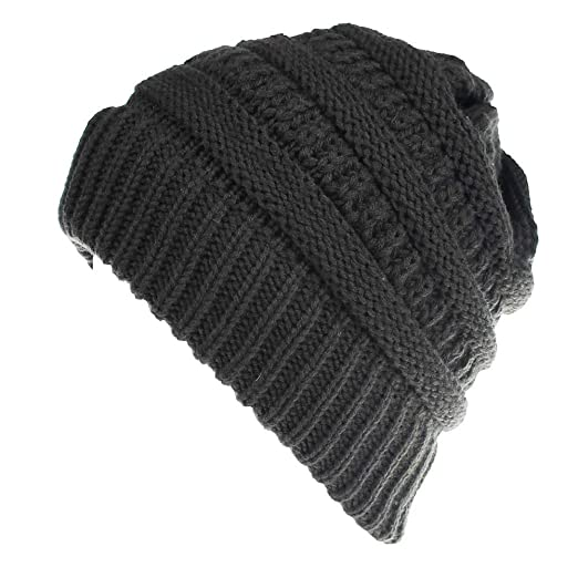 87cda6f9f30e4d Image Unavailable. Image not available for. Color: CHIDY Men Women Cute  Trend Solid Color Warm Cap Wool Knit Ski Beanie Skull Slouchy Hat