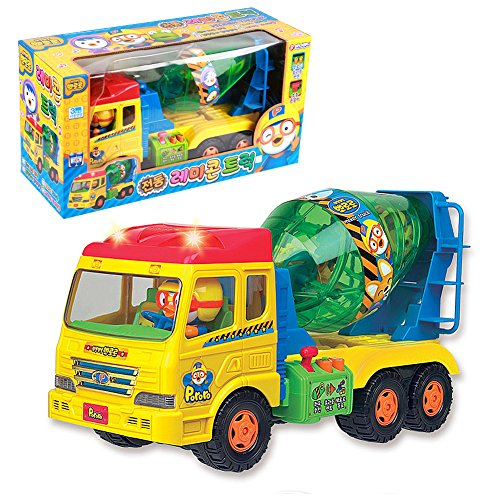 Pororo Electric Remicon Mixer Truck Toy Truck / Korea TV Animation Children's Gifts Car - Sky Ride On Fire Truck