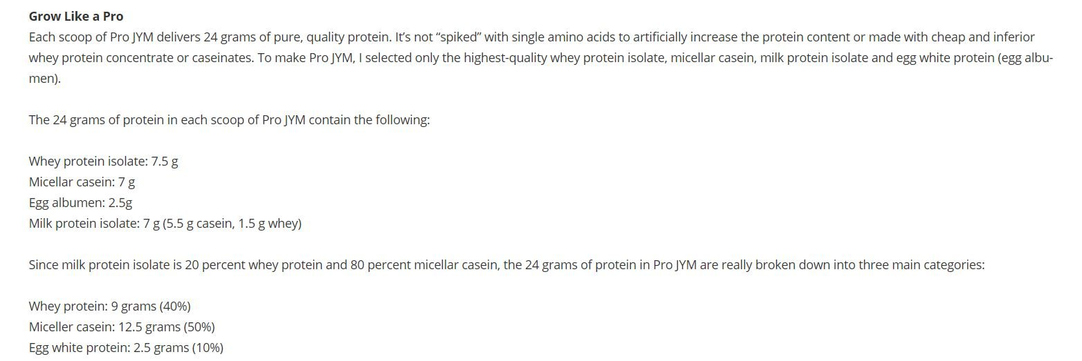 Pro Jym Protein Powder - Egg White, Milk, Whey protein isolates & Micellar Casein   JYM Supplement Science   Tahitian Vanilla Bean Flavor, 4 Lb by JYM Supplement Science (Image #5)