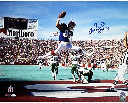 Andre Reed Horizontal jump in endzone Bills Autographed Signed 16x20 Photo with HOF 14 Insc. - Authentic Signature