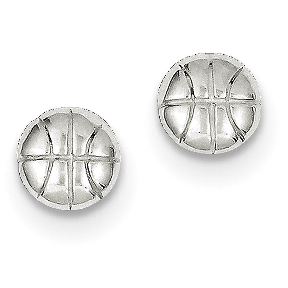 Lex & Lu - Pendientes de baloncesto de plata de ley: Amazon.es ...