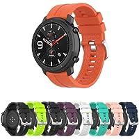 Pulseira Silicone 22mm para Amazfit GTR 47mm - Samsung Galaxy Watch 46mm - Gear S3 Frontier - Gear S3 Classic - Marca Ltimports (Laranja)