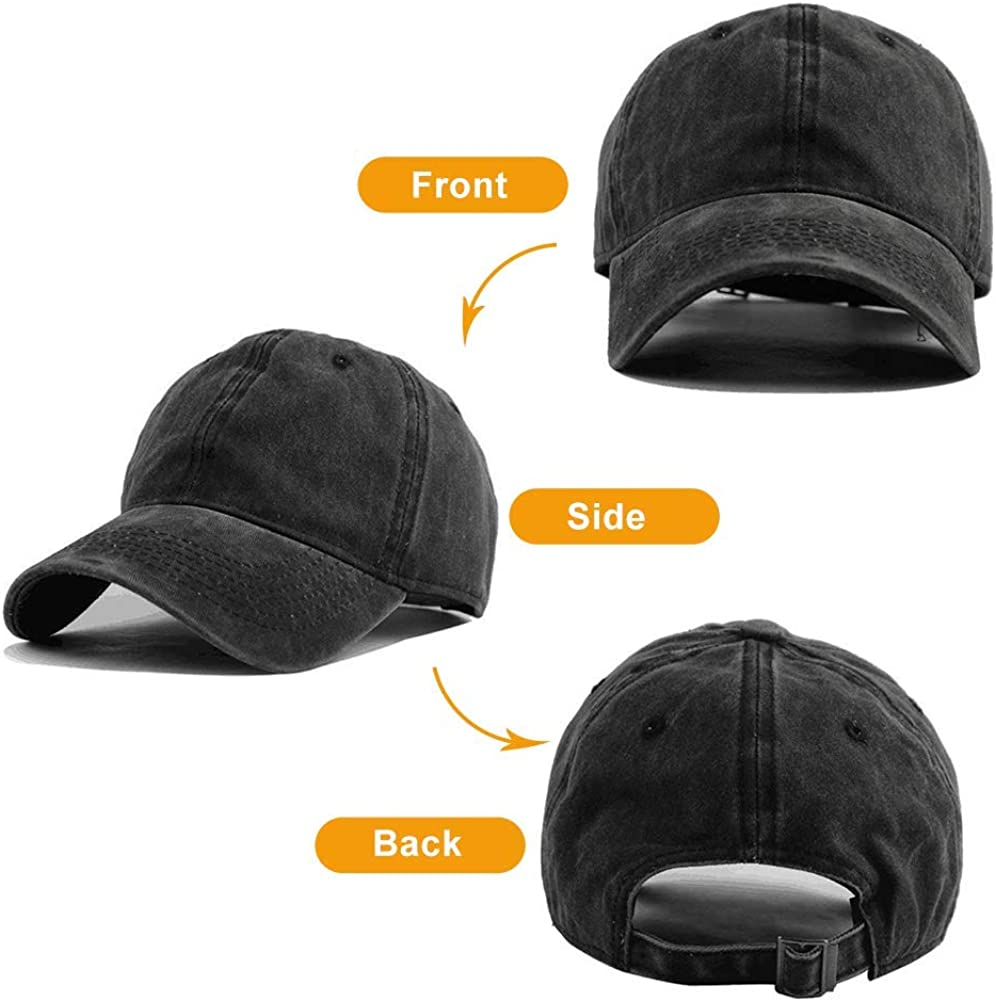 Black Baseball Cap-Kobayashi Maru Academy Champion Trucker Hat Washed Cotton Vintage Adjustable Dad Hat