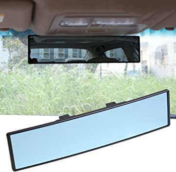 Universal 17.7 Panoramic Car Interior Clip On Rearview Mirrors,450mm Wide Angle Rear View Mirror Eliminate Blind Spot ZENAN Car Rear View Mirror