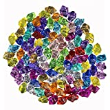 Pirate Gems Jewels Vase Fillers - Acrylic Crystal Diamonds for Table Scatter, Party, Wedding, Stage Props, 36 Pcs