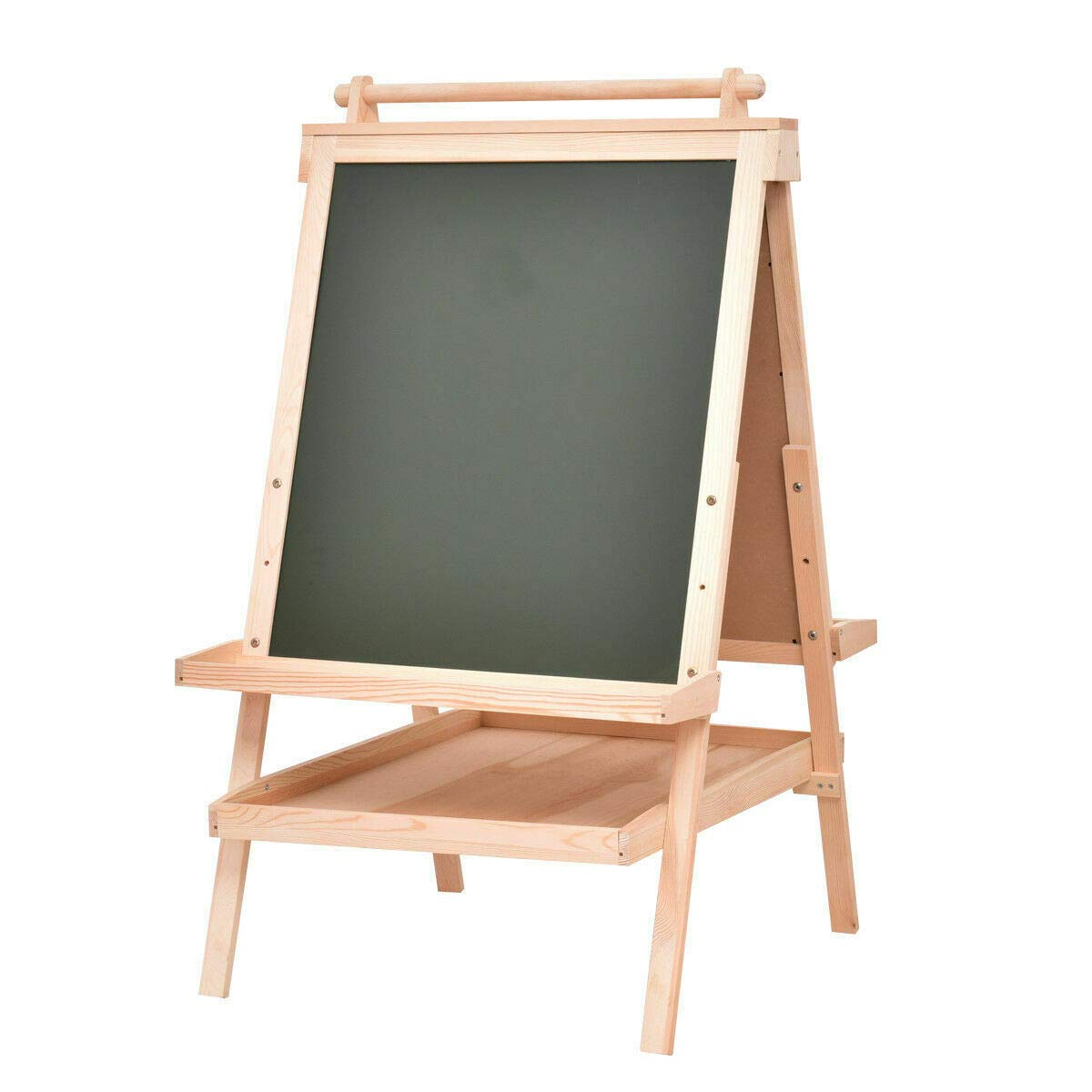 Wooden Art Easel All in One Kid's Double Side w/Paper Roll&Accessories Tray