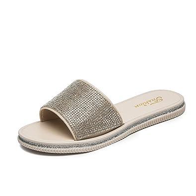 82f9240386cfb Summer Woman Shoes Platform Bath Slippers Wedge Beach Flip Flops Slippers  for Women (Beige 36