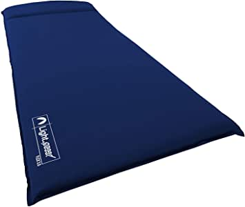 Lightspeed Outdoors XL Super Plush FlexForm Premium Self-Inflating Insulated Sleep and Camp Foam Pad   Extra Thick Sleep Mat