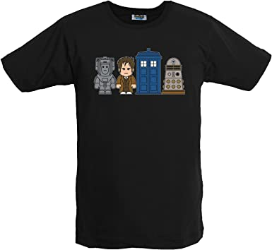 Doctor Who - Camiseta Toonstar Negra - El Doctor - XXL: Amazon.es: Ropa y accesorios