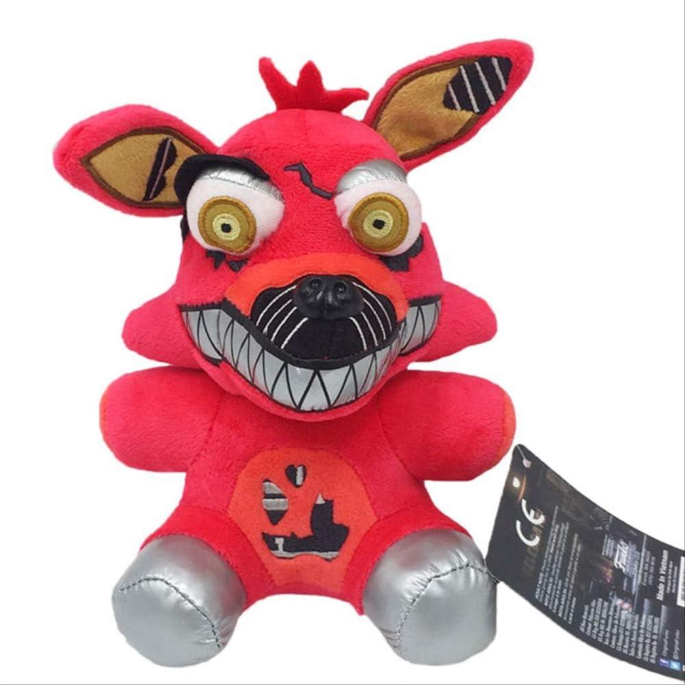 Missyou Llegada Five Nights At Freddy'S 4 FNAF Peluches Freddy Bear Foxy Chica Bonnie Peluches Peluches para Niños Regalos 18Cm 18Cm Red Smile Fox