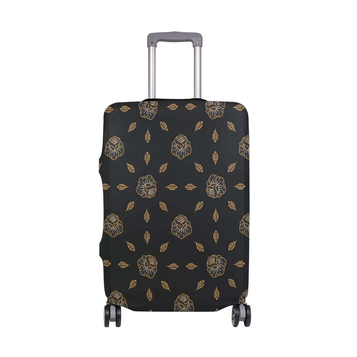 Amazon.com: Maletas de viaje con diseño de calavera de oro ...