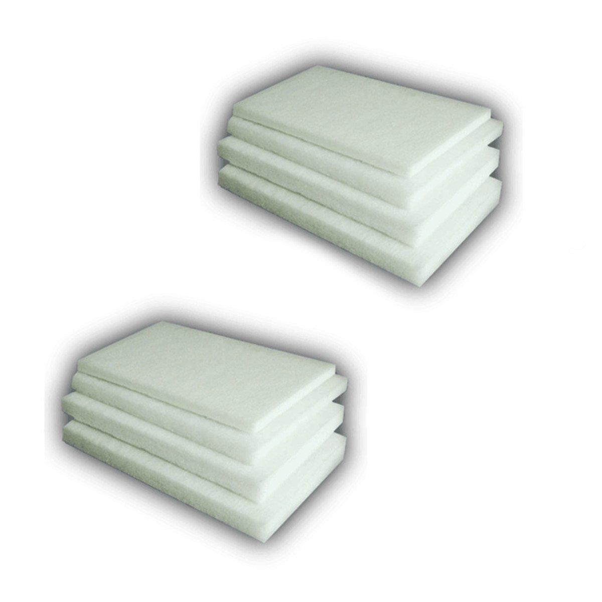 Twin Pack Pond Foam Fleece Filter Wadding 1m x 1m x 70mm