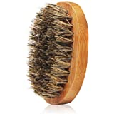 Beard Brush for Men Care - Boar Bristle Bamboo Base Beard Brush,Great for Dry or Wet Beards,Distributes Balm for Growth & Styling - Adds Shine & Softness by Genkent