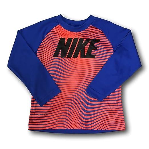 c5893947d6 Amazon.com  NIKE Little Boys  Long-Sleeve Wave Stripe Graphic-Print ...