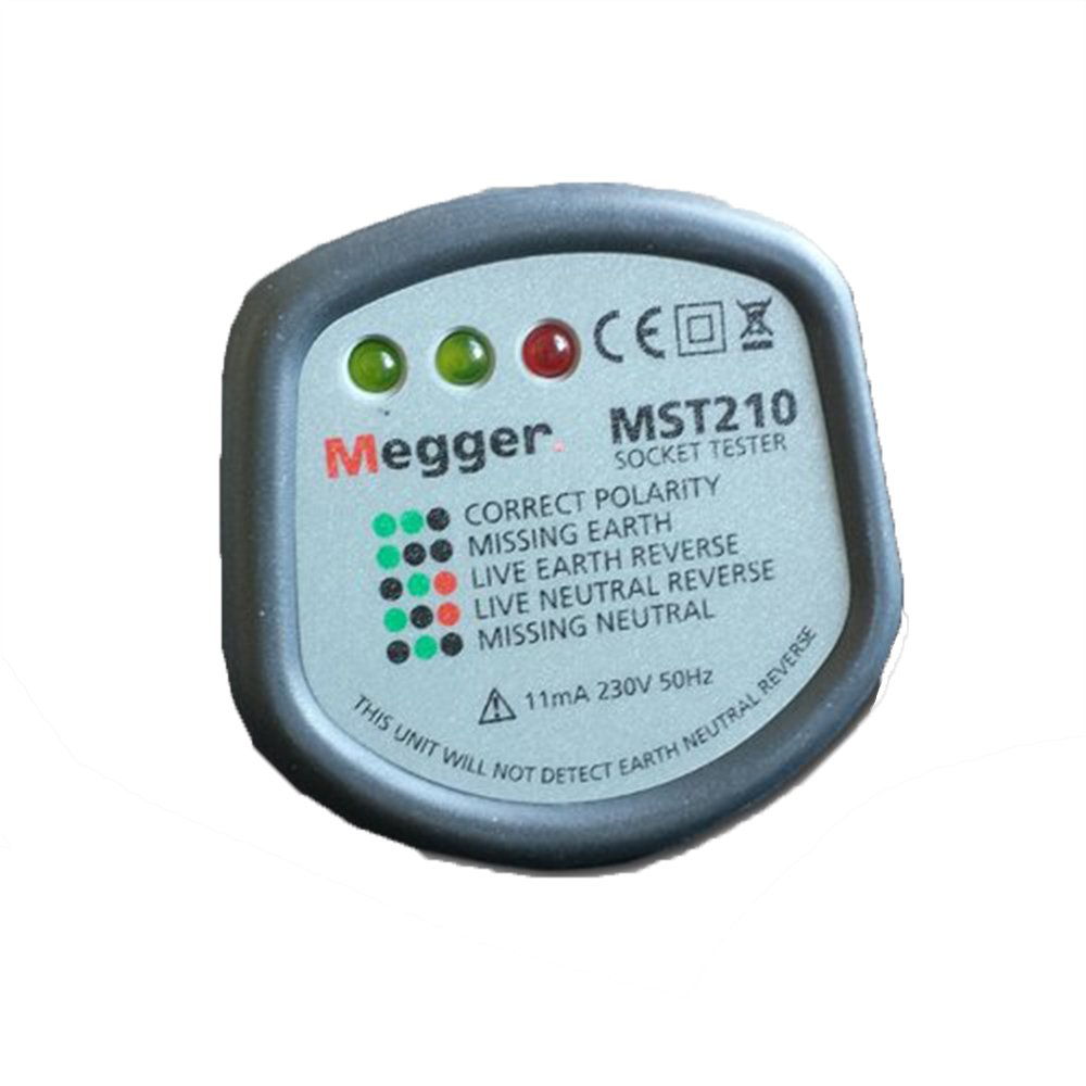 SOCKET TESTER MST210 By MEGGER: Amazon.co.uk: DIY & Tools