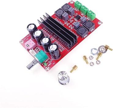 Amplificador de Audio Digital ANGEEK 2X100W, Tabla TPA3116D2, Amplificador de Doble Canal DC12V-24V para Arduino: Amazon.es: Electrónica