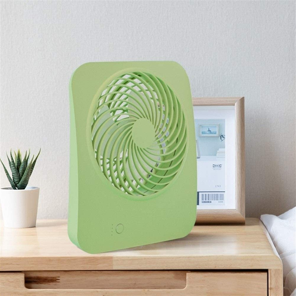 Air Cooler Mini Fan Desktop Fan Office Dormitory USB Charging Fan No Battery Color : Green
