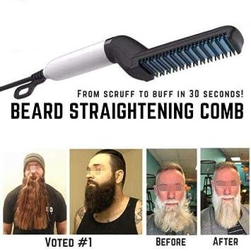 Amazon Com Tamefinish Beard Straightening Comb Medifit Show Cap