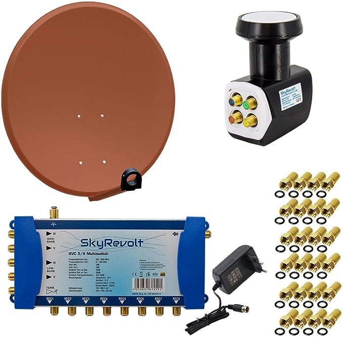 PremiumX – HD satélite (Antena Parabólica 100 cm Antena Acero ...