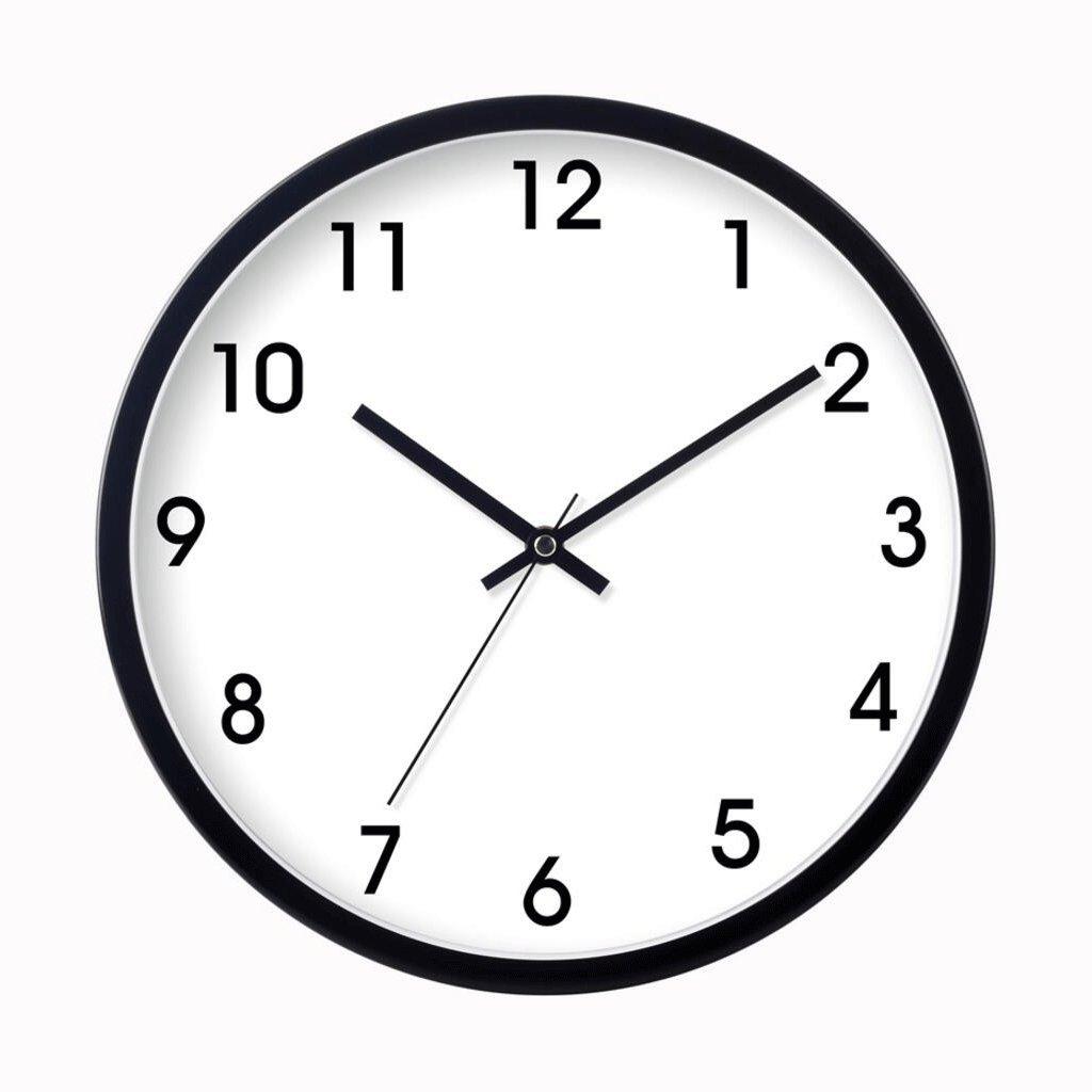 GAOLILI リビングルームベッドルームミュートクロックファッションクリエイティブモダンクォーツ時計 ( 色 : ブラック , サイズ さいず : 35*35cm(1200G) ) B07C3WH4DV 35*35cm(1200G)|ブラック ブラック 35*35cm(1200G)